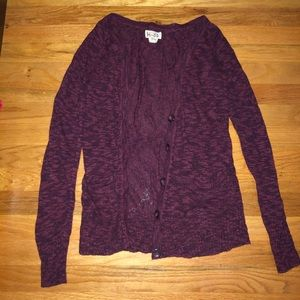 Maroon Cardigan Sweater